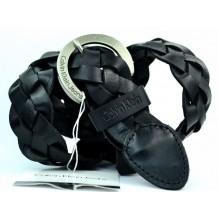 Широкий женский кожаный ремень Calvin Klein черный (арт. 104627)