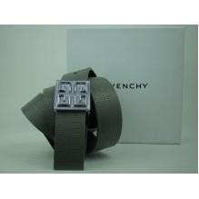 Мужской кожаный ремень Givenchy серый (арт. 104565)
