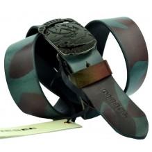 Мужской кожаный ремень Diesel камуфляж (арт. 104548)