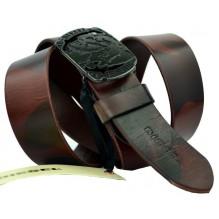 Мужской кожаный ремень Diesel темно-коричневый (арт. 104550)