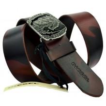 Мужской кожаный ремень Diesel темно-коричневый (арт. 104551)