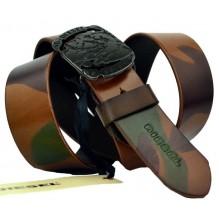 Мужской кожаный ремень Diesel камуфляж (арт. 104552)