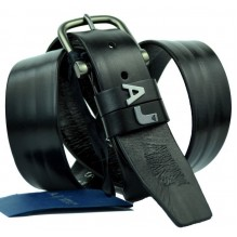 Мужской кожаный ремень Giorgio Armani черный (арт. 104530)