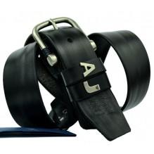 Мужской кожаный ремень Giorgio Armani черный (арт. 104531)