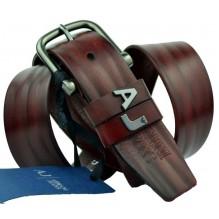 Мужской кожаный ремень Giorgio Armani темно-коричневый (арт. 104532)