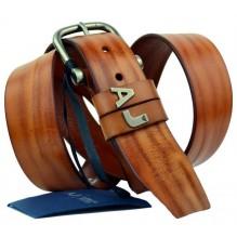 Мужской кожаный ремень Giorgio Armani коричневый (арт. 104534)