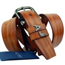Мужской кожаный ремень Giorgio Armani коричневый (арт. 104535)