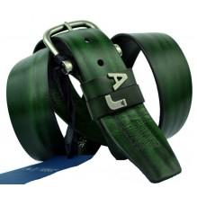 Мужской кожаный ремень Giorgio Armani темно-зеленый (арт. 104536)