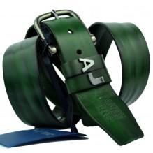 Мужской кожаный ремень Giorgio Armani темно-зеленый (арт. 104537)