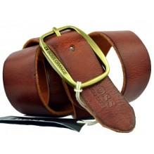 Мужской кожаный ремень HUGO BOSS коричневый (арт. 104538)