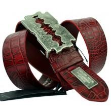 Мужской кожаный ремень Philipp Plein красный (арт. 104539)