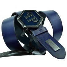 Мужской кожаный ремень Philipp Plein темно-синий (арт. 104545)