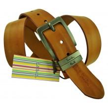 Мужской кожаный ремень Paul Smith коричневый (арт. 104200)