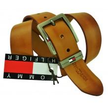 Мужской кожаный ремень Tommy Hilfiger коричневый (арт. 104299)