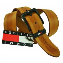 Мужской кожаный ремень Tommy Hilfiger коричневый (арт. 104301)
