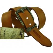 Мужской кожаный ремень Diesel коричневый (арт. 104365)