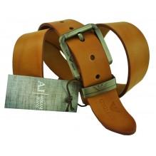 Мужской кожаный ремень Giorgio Armani коричневый (арт. 104229)
