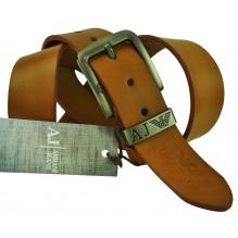 Мужской кожаный ремень Giorgio Armani коричневый (арт. 104230)