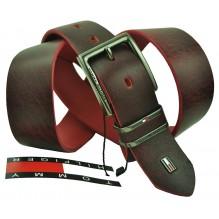 Мужской кожаный ремень Tommy Hilfiger темно-коричневый (арт. 104302)