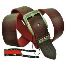 Мужской кожаный ремень Tommy Hilfiger темно-коричневый (арт. 104303)