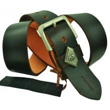 Мужской кожаный ремень Philipp Plein темно-коричневый (арт. 104406)