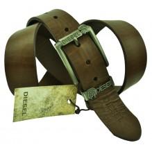 Мужской кожаный ремень Diesel темно-коричневый (арт. 104367)