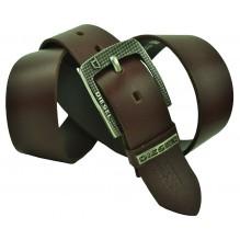 Мужской кожаный ремень Diesel темно-коричневый (арт. 104368)