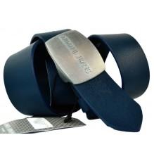 Мужской кожаный ремень Giorgio Armani темно-синий (арт. 104217)