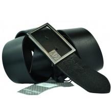 Мужской кожаный ремень Giorgio Armani черный (арт. 104218)