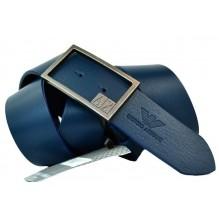 Мужской кожаный ремень Giorgio Armani темно-синий (арт. 104219)