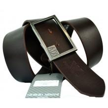 Мужской кожаный ремень Giorgio Armani темно-коричневый (арт. 104220)