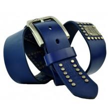 Мужской кожаный ремень Diesel синий (арт. 104521)