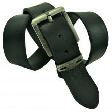 Мужской кожаный ремень Giorgio Armani черный (арт. 104234)