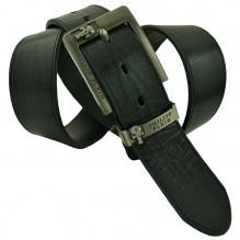 Мужской кожаный ремень Philipp Plein черный (арт. 104410)