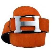 Мужской кожаный ремень Hermes светло-коричневый (арт. 104169)