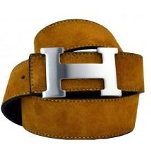 Мужской кожаный ремень Hermes светло-коричневый (арт. 104170)