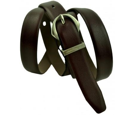 Женский кожаный ремень Salvatore Ferragamo темно-коричневый (арт. 104627) Salvatore Ferragamo