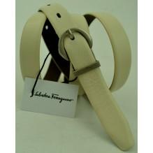 Женский кожаный ремень Salvatore Ferragamo белый (арт. 104627)