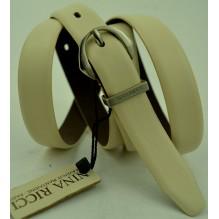 Женский кожаный ремень Nina Ricci белый (арт. 104627)