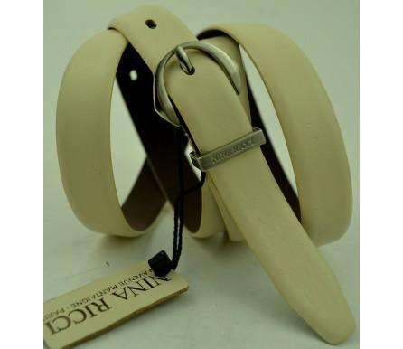 Женский кожаный ремень Nina Ricci белый (арт. 104627) Nina Ricci