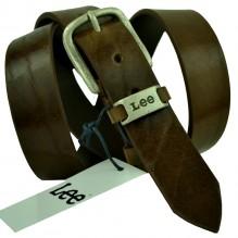 Мужской кожаный ремень Lee темно-коричневый (арт. 104523)