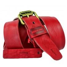 Мужской кожаный ремень Е quiero красный (арт. 104415)