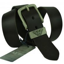 Мужской кожаный ремень Giorgio Armani черный (арт. 104481)