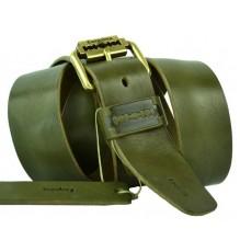 Мужской кожаный ремень Е quiero оливковый (арт. 104417)