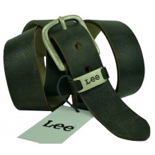 Мужской кожаный ремень Lee черный (арт. 104501)