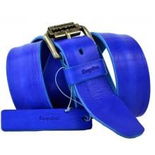 Мужской кожаный ремень Е quiero синий (арт. 104419)