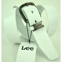 Мужской кожаный ремень Lee Белый (арт. 104502)